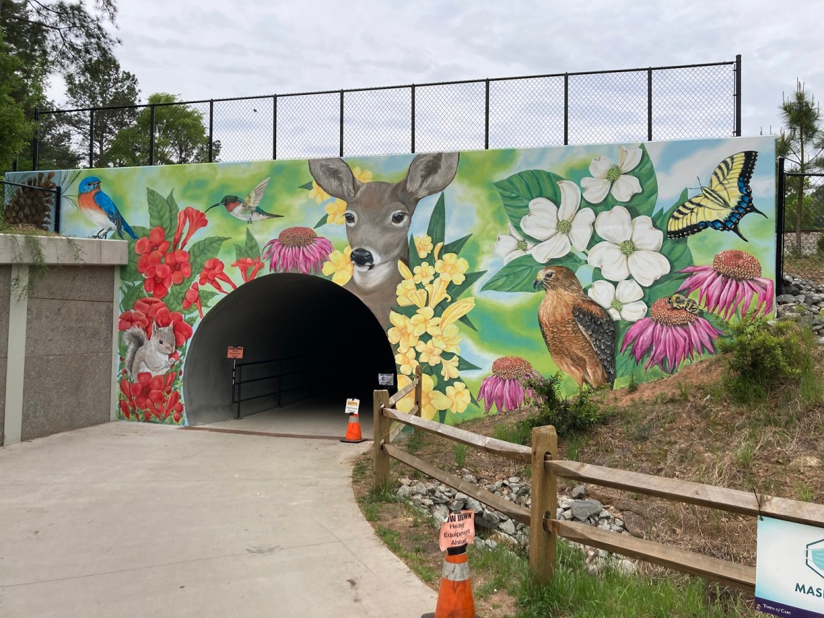 New Mural Appears On One of Cary's BelovedGreenways